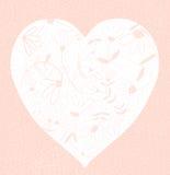 Corazón floral rosado Imagen de archivo