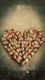 Corazón florecido Imagen de archivo libre de regalías