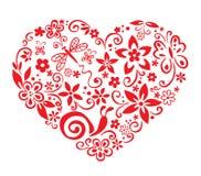 Corazón floreciente Fotografía de archivo