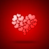 Corazón formado corazones Fotos de archivo