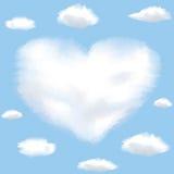Corazón formado nube en un cielo libre illustration