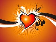 Corazón fresco de la tarjeta del día de San Valentín floral Foto de archivo libre de regalías