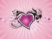 Corazón fresco de la tarjeta del día de San Valentín floral Fotos de archivo