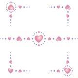 Corazón-frontera-esquinas Imagenes de archivo