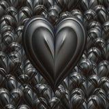 Corazón fuerte de las tarjetas del día de San Valentín del amor Imagen de archivo