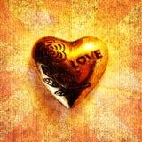 ?Corazón grabado del amor?, primer Foto de archivo