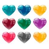 Corazón grande aislado en el ejemplo blanco del vector del fondo Imágenes de archivo libres de regalías