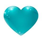 Corazón grande aislado en el ejemplo blanco del vector del fondo Imagen de archivo libre de regalías