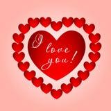 Corazón grande con la inscripción Imagen de archivo libre de regalías