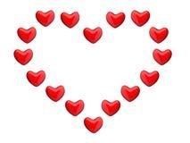 Corazón grande de pequeños corazones Fotos de archivo