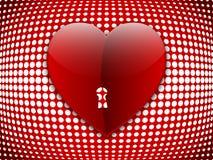 Corazón grande en el fondo de semitono Imagen de archivo
