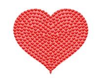 Corazón grande hecho de pequeños corazones Foto de archivo libre de regalías