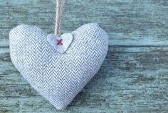 Corazón gris Fotografía de archivo libre de regalías