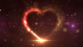 Corazón HD de las partículas stock de ilustración
