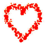 Corazón hecho con estearina roja Fotografía de archivo