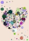 Corazón hecho con las flores Fotos de archivo