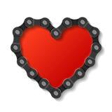 Corazón hecho de encadenamiento Fotografía de archivo libre de regalías