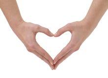 Corazón hecho de las manos Fotografía de archivo libre de regalías