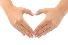 Corazón hecho de manos Foto de archivo