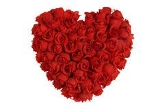 Corazón hecho de rosas rojas imagen de archivo