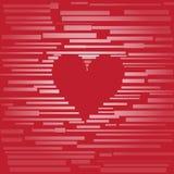 Corazón hecho de tarjetas Fotografía de archivo