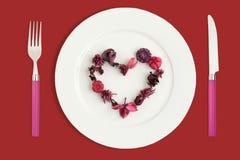 Corazón hecho del popurrí Fotos de archivo