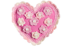 Corazón hecho a mano Imagenes de archivo