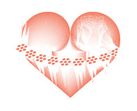 Corazón helado Imagenes de archivo
