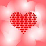 Corazón hermoso de la tarjeta Imagen de archivo
