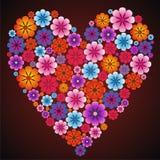 Corazón hermoso para el día de Valentineâs del día de fiesta Foto de archivo libre de regalías