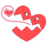 Corazón, historieta Fotos de archivo