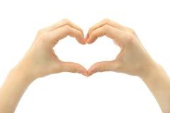 Corazón humano de la mano Fotografía de archivo libre de regalías