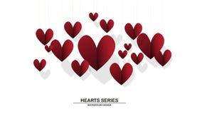 Corazón II del papel del ejemplo del vector Foto de archivo