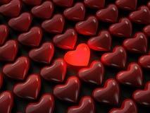 Corazón iluminado Foto de archivo libre de regalías