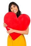 Corazón indio del rojo de la mujer fotos de archivo