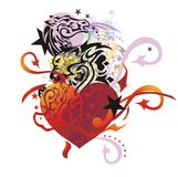 Corazón inusual en estilo del grunge Fotografía de archivo libre de regalías