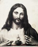 Corazón lindo Jesús foto de archivo libre de regalías