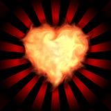 Corazón llameante Imagen de archivo