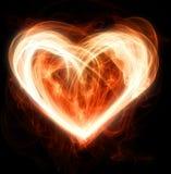 Corazón llameante Fotos de archivo libres de regalías
