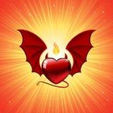 Corazón malvado Imagen de archivo libre de regalías