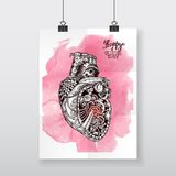 Corazón mecánico Imagen de archivo