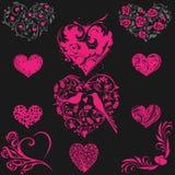 Corazón modelado cinco Foto de archivo libre de regalías