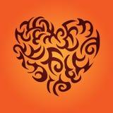 Corazón Modelo céltico Imagen de archivo libre de regalías