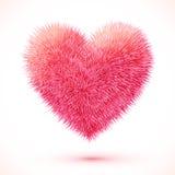 Corazón mullido rojo del vector libre illustration