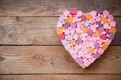 Corazón multicolor hecho a mano Imágenes de archivo libres de regalías