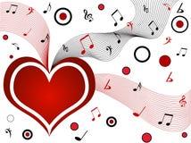 Corazón musical Foto de archivo