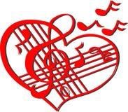 Corazón musical Fotografía de archivo libre de regalías
