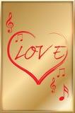 Corazón musical del amor Imagen de archivo