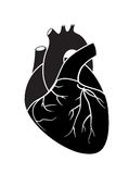 Corazón negro Imagen de archivo