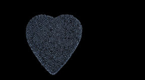 Corazón negro del caviar Fotografía de archivo